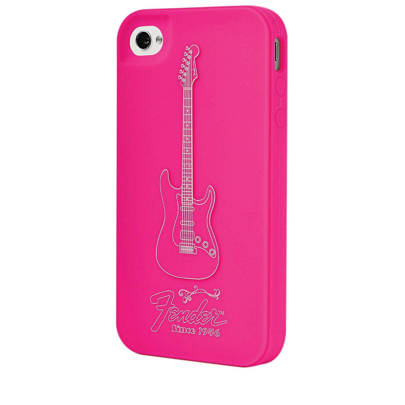 Hal Leonard Contour Design Fender iPhone 4/4S Genuine Magenta Silicone Protective Case thumbnail