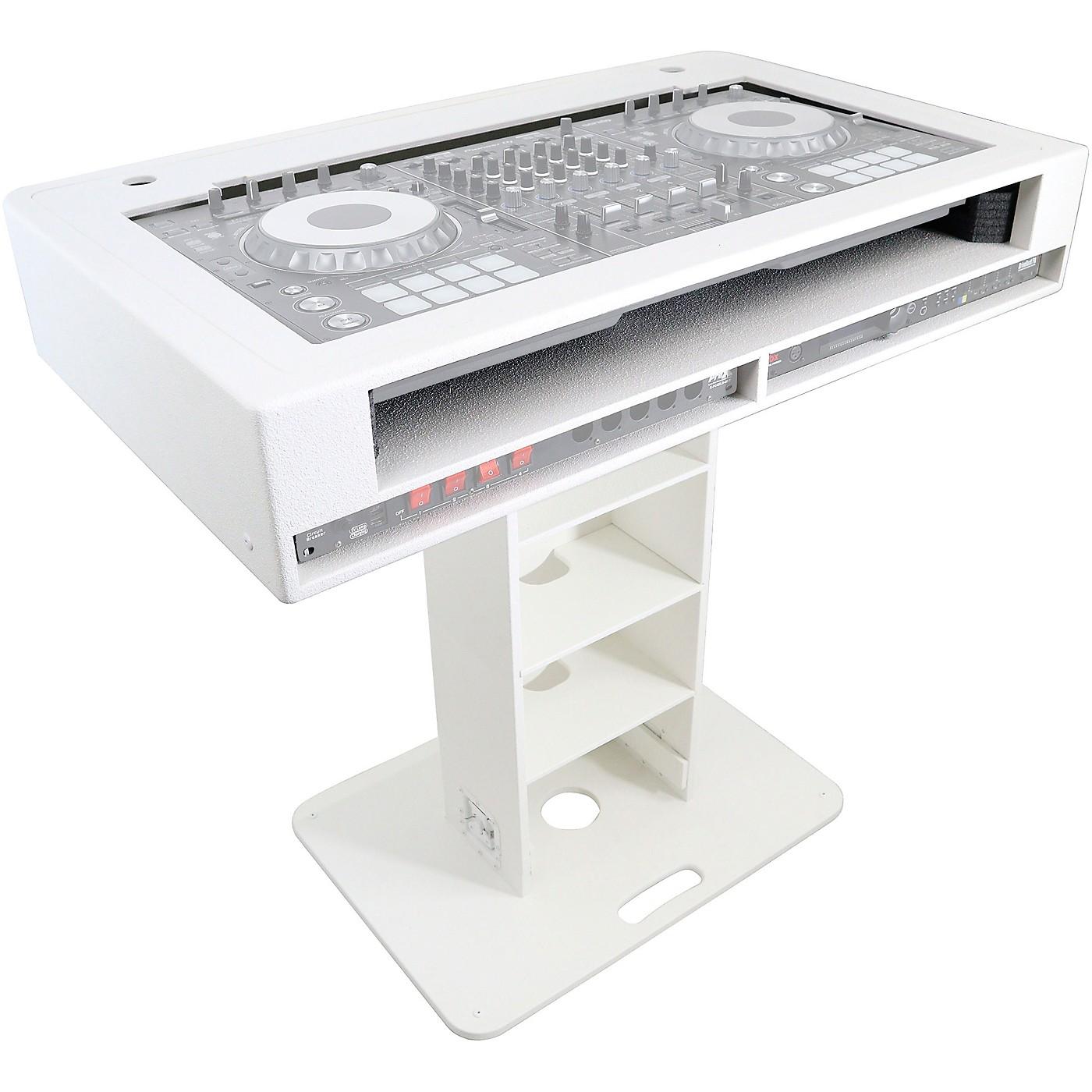 ProX Control Tower 2U DJ Podium Stand w/ 2x Travel Case for Pioneer XDJ-XZ, DDJ-1000 SRT, DDJ-SZ2, and DDJ SX-3 Black Finish thumbnail