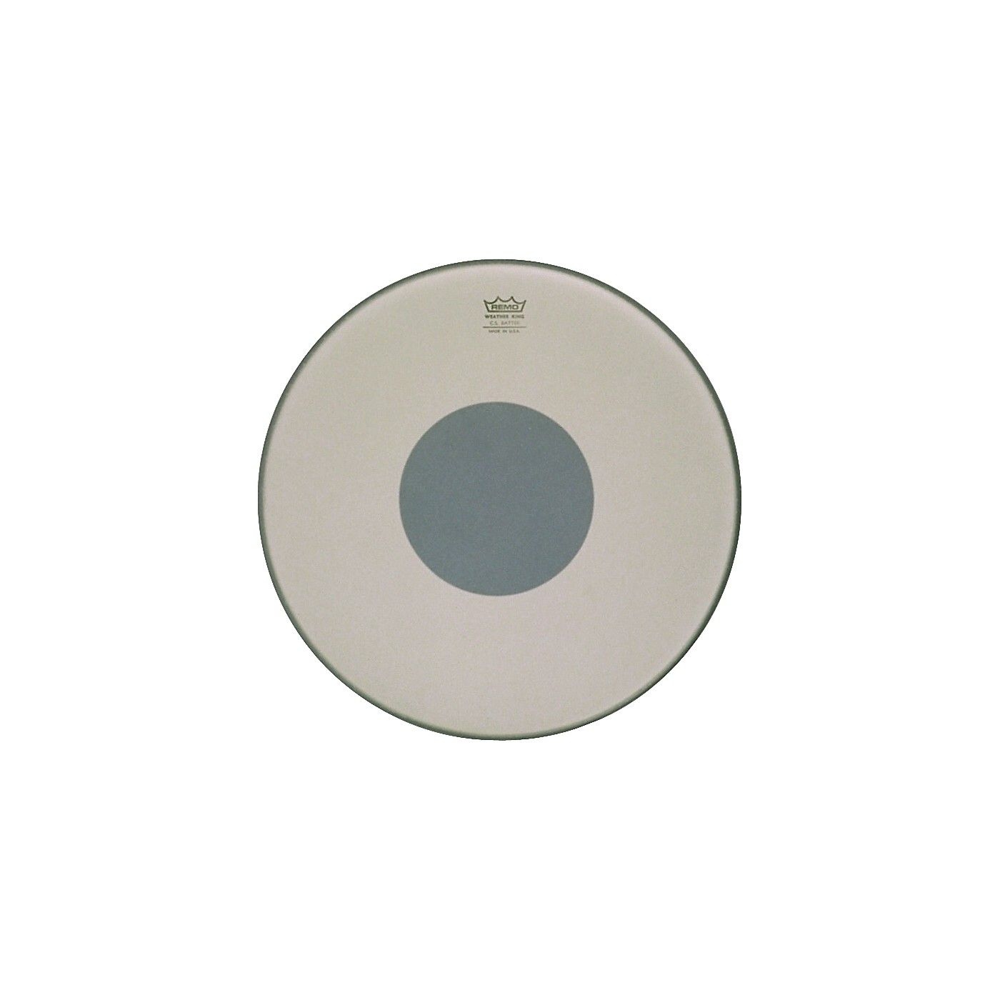 Remo Controlled Sound Smooth White with Black Dot Bass Drum thumbnail
