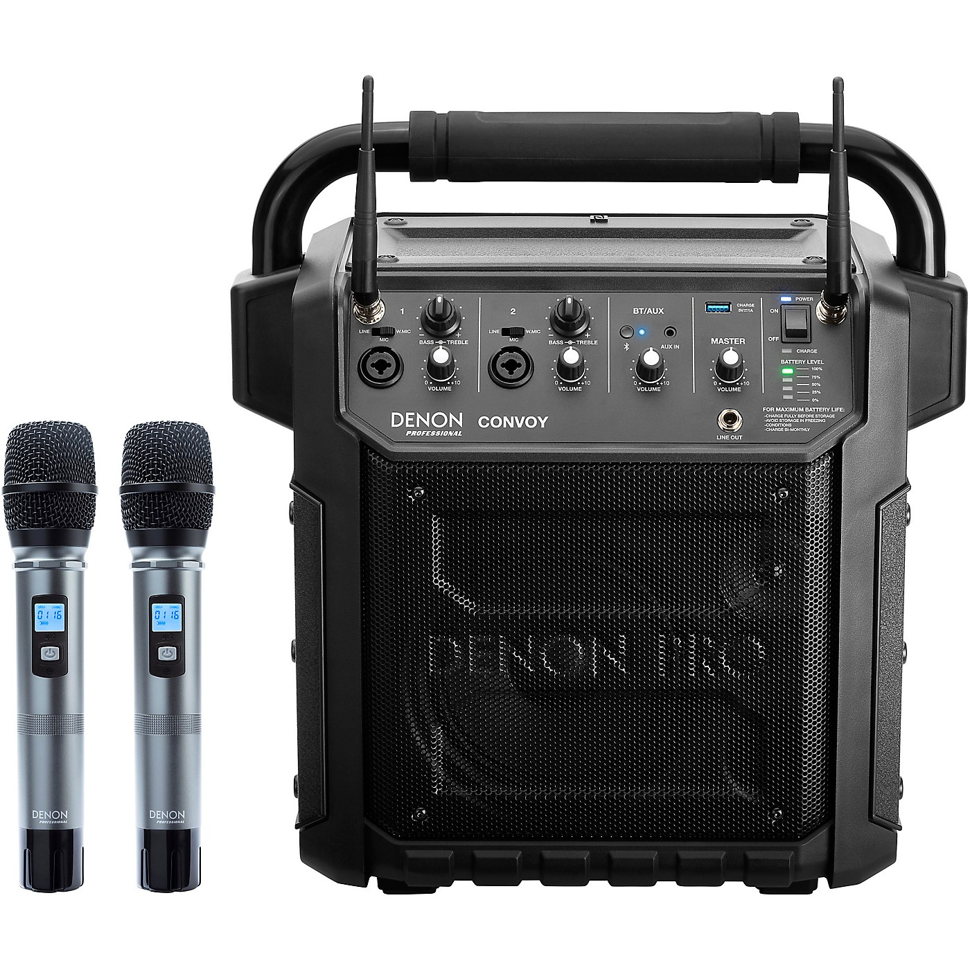 Denon Professional Convoy Portable PA System with Diversity Wireless Mics And Bluetooth Receiver thumbnail