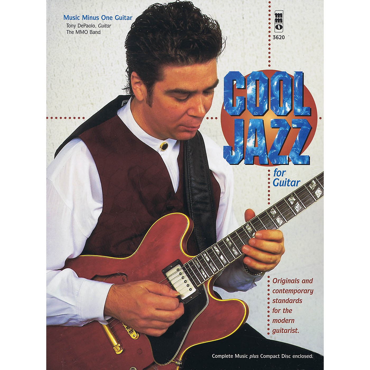 Music Minus One Cool Jazz for Guitar Music Minus One Series Softcover with CD Performed by Tony DePaolo thumbnail
