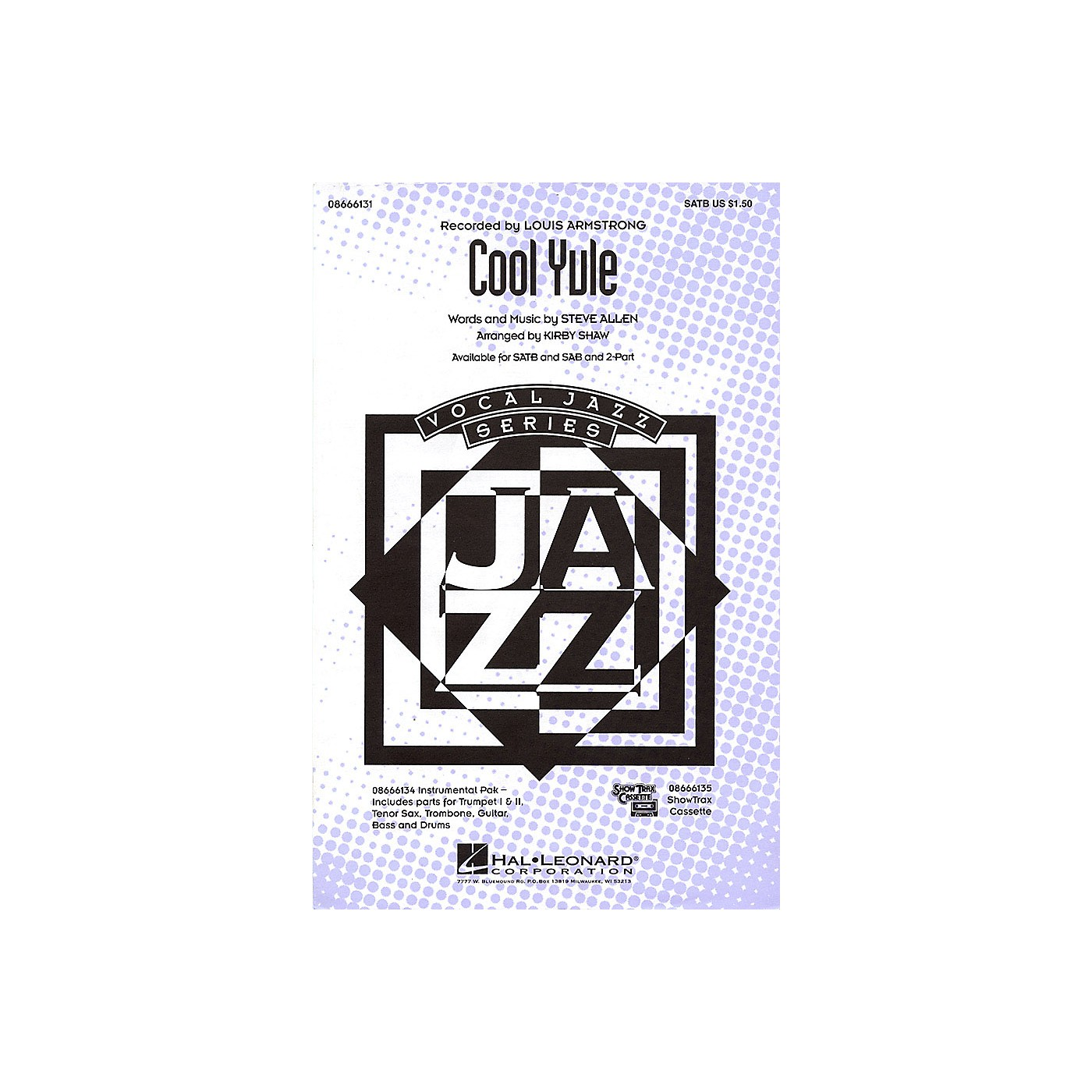 Hal Leonard Cool Yule SAB by Louis Armstrong Arranged by Kirby Shaw thumbnail