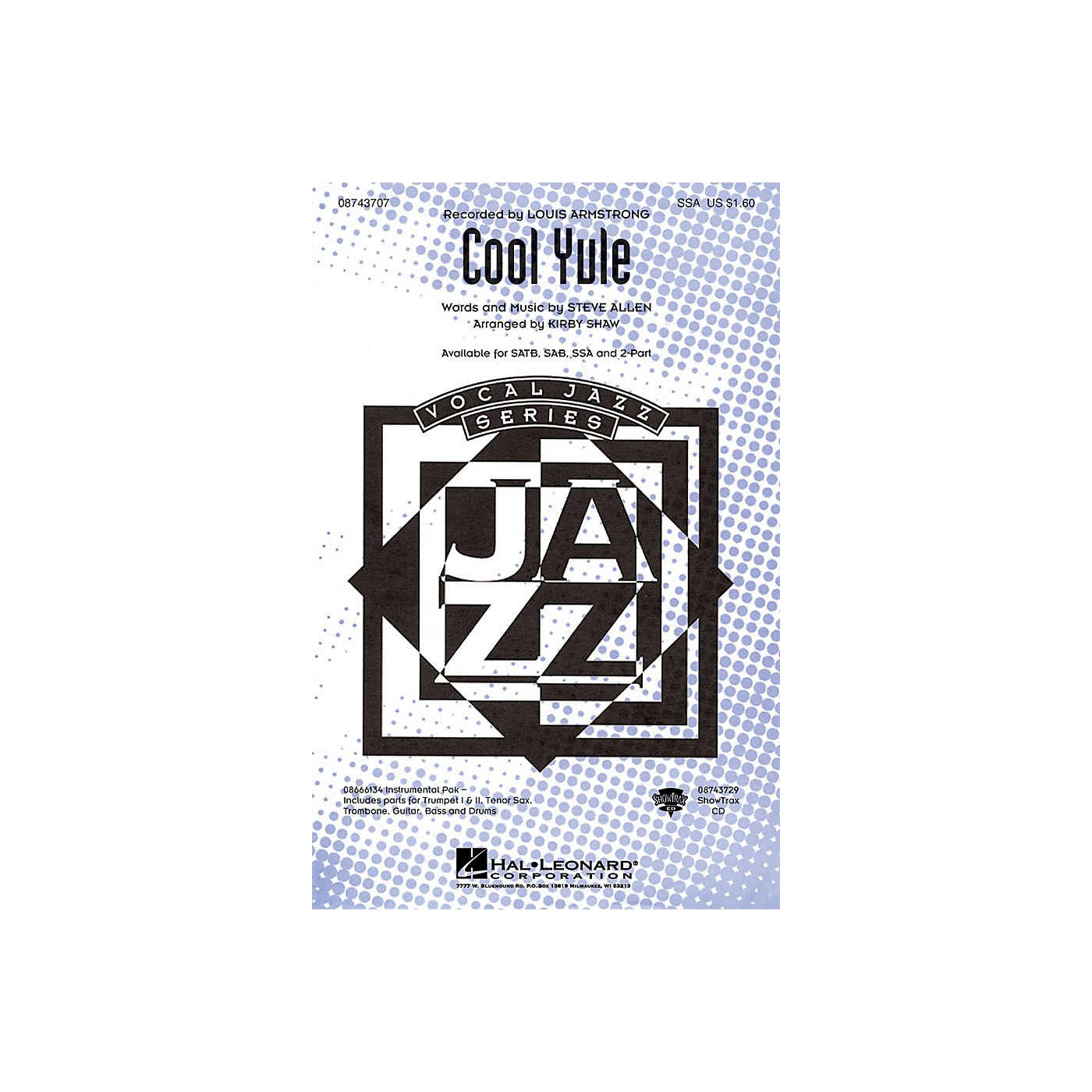 Hal Leonard Cool Yule ShowTrax CD by Louis Armstrong Arranged by Kirby Shaw thumbnail