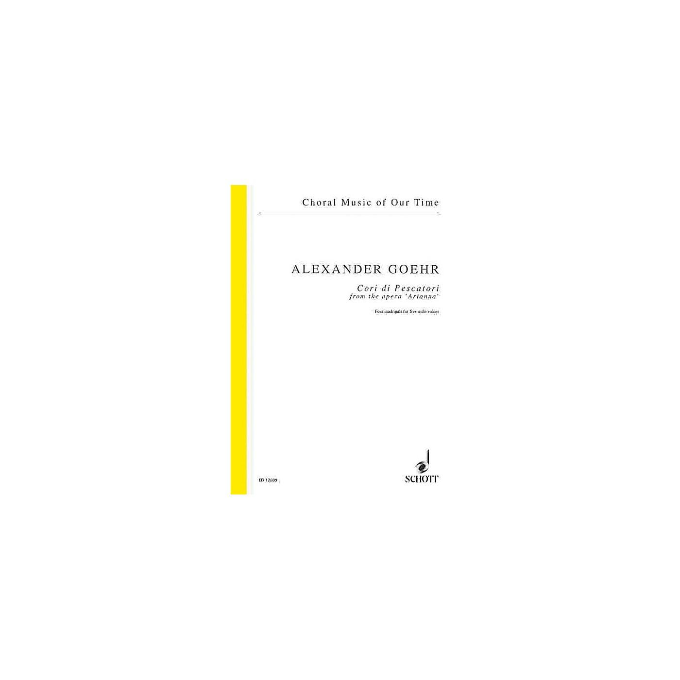 Schott Cori di Pescatori from the opera Arianna, op. 58b Composed by Alexander Goehr thumbnail
