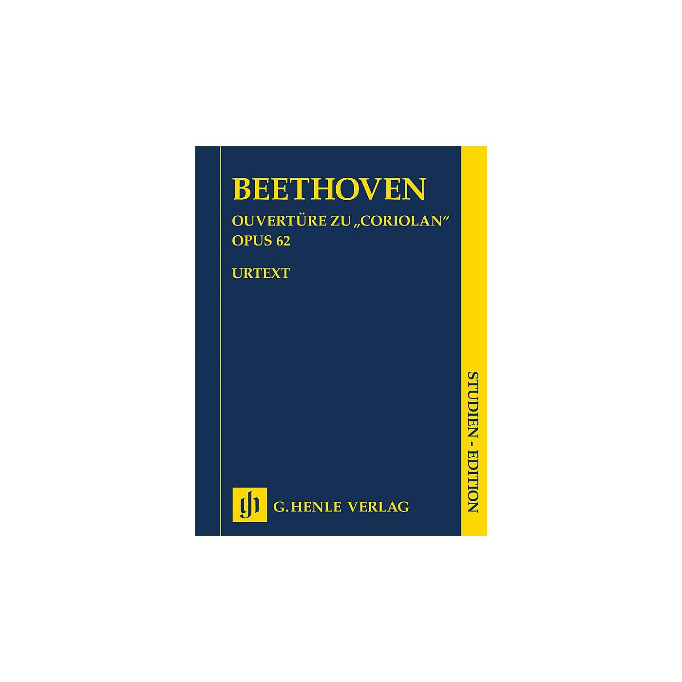 G. Henle Verlag Coriolan Overture, Op. 62 Henle Study Scores by Beethoven Edited by Hans-Werner Küthen thumbnail