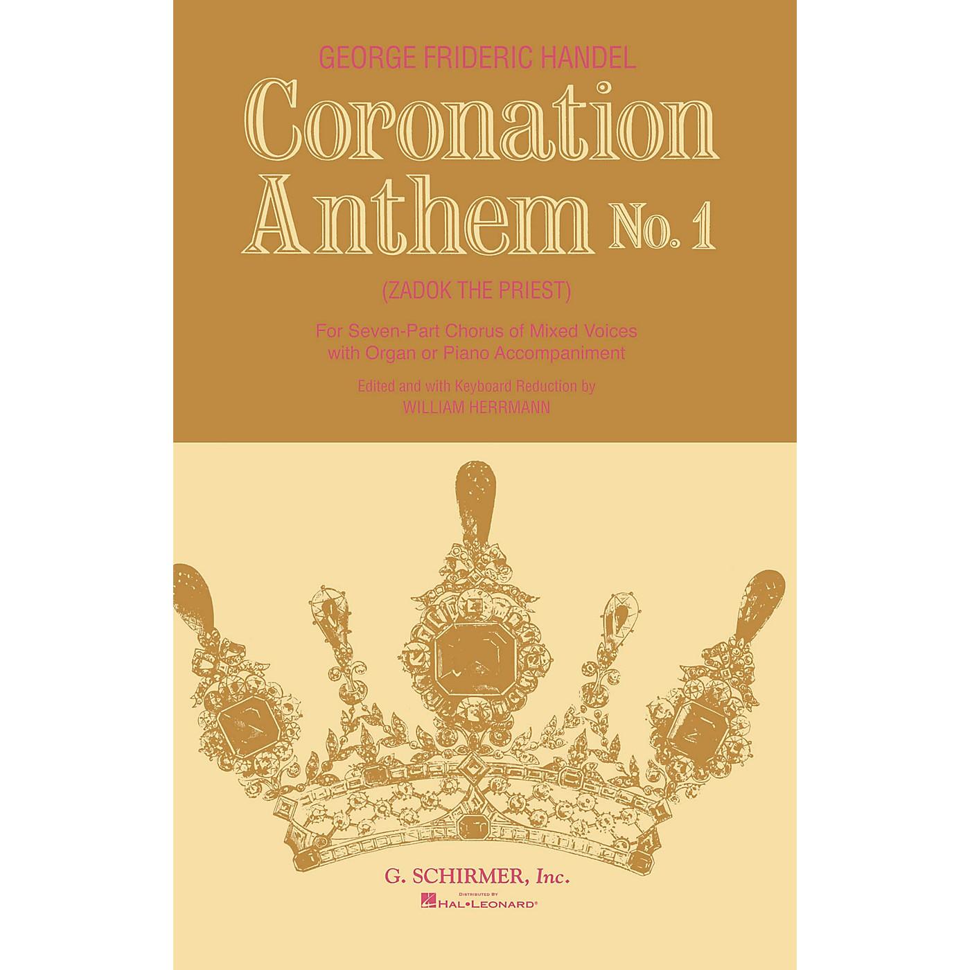 G. Schirmer Coronation Anthem No. 1: Zadok the Priest (SSAATTBB Chorus and Piano) by George Friedrich Handel thumbnail