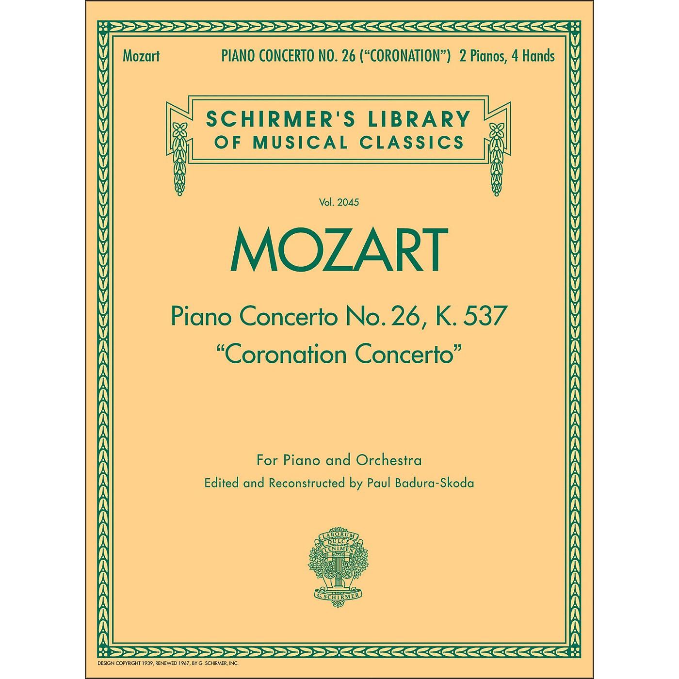 G. Schirmer Coronation Concerto 2 Pno/4Hnd piano Concerto No 26 K537 By Mozart thumbnail