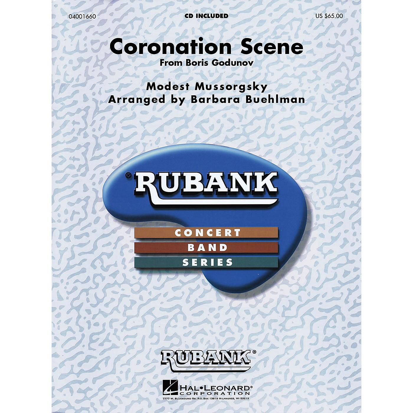 Hal Leonard Coronation Scene from Boris Godounoff Concert Band Level 4-6 Arranged by Barbara Buehlman thumbnail