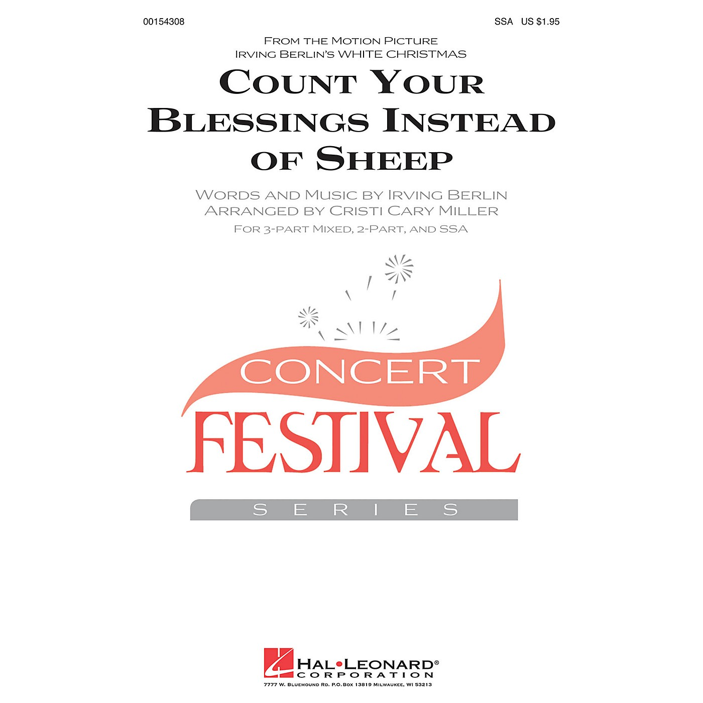 Hal Leonard Count Your Blessings Instead Of Sheep (from White Christmas) SSA arranged by Cristi Miller thumbnail