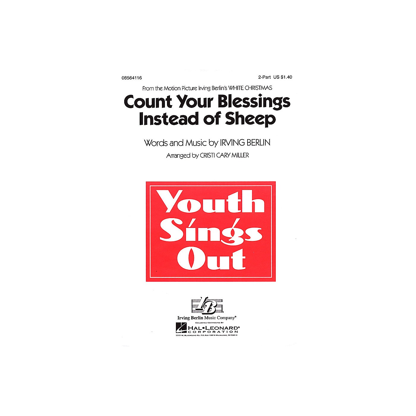Hal Leonard Count Your Blessings Instead of Sheep (from White Christmas) 2-Part arranged by Cristi Cary Miller thumbnail