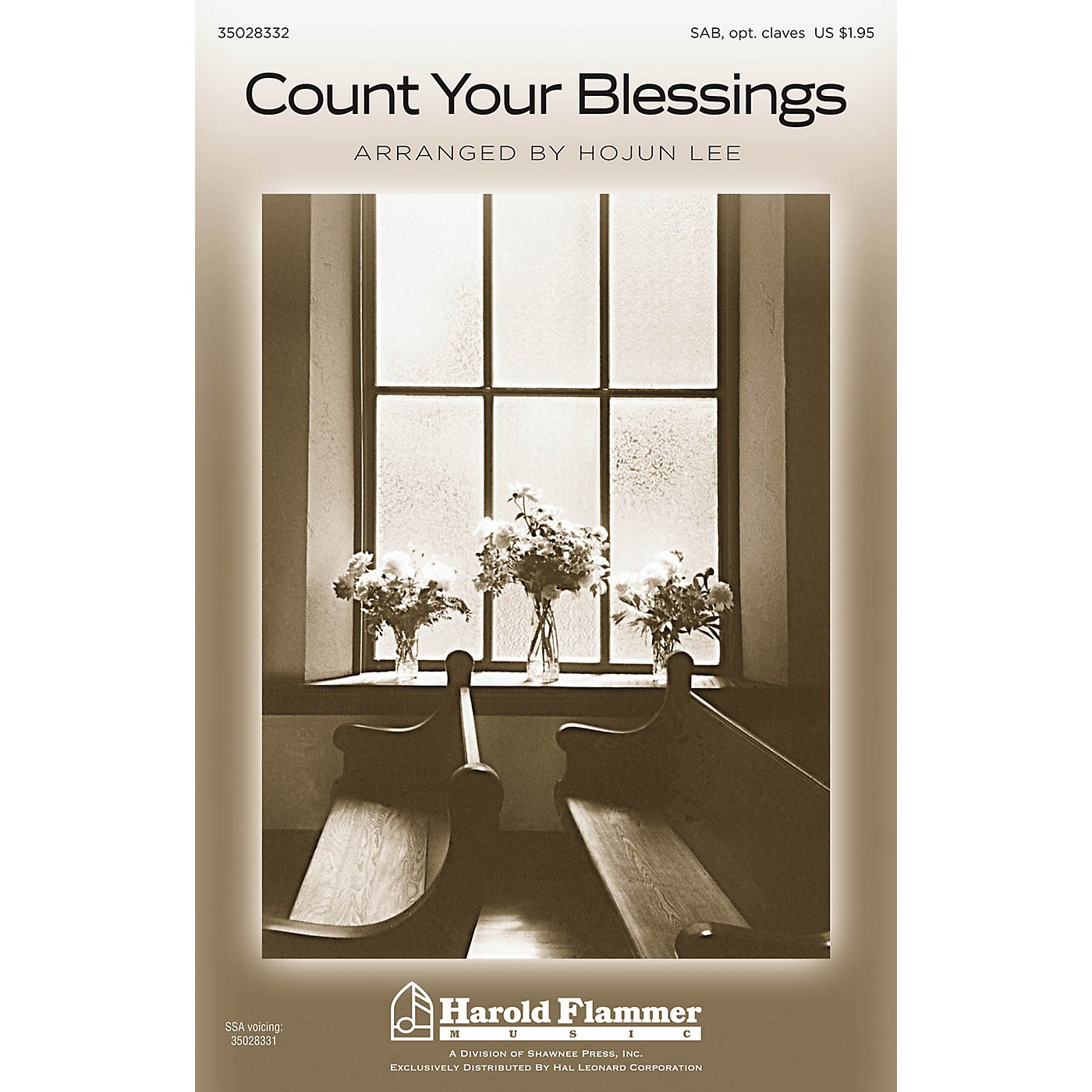 Shawnee Press Count Your Blessings SAB arranged by Hojun Lee thumbnail