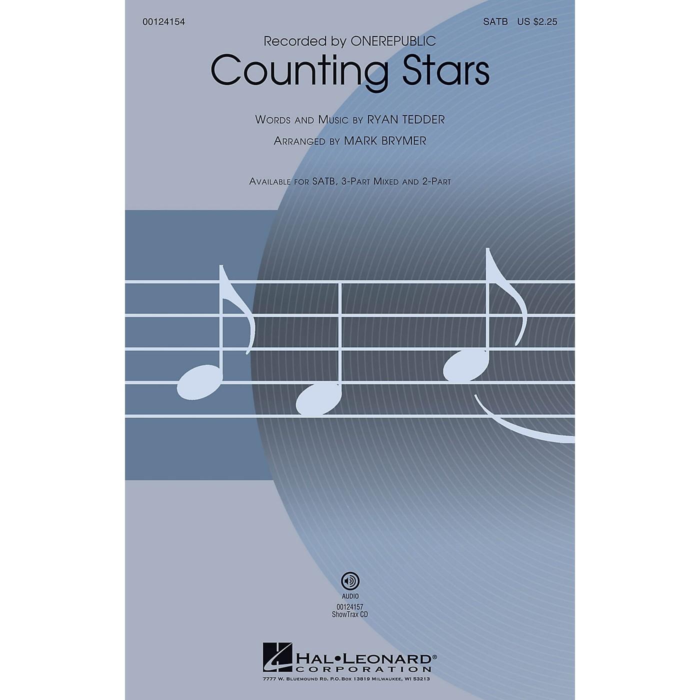 Hal Leonard Counting Stars SATB by OneRepublic arranged by Mark Brymer thumbnail