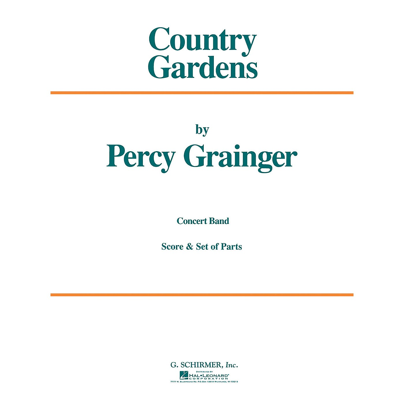 G. Schirmer Country Gardens (Score and Parts) Concert Band Level 4-5 Composed by Percy Grainger thumbnail