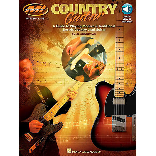Hal Leonard Country Guitar - A Guide to Playing Modern & Traditional Electric Country Lead Guitar Book/Audio Online thumbnail