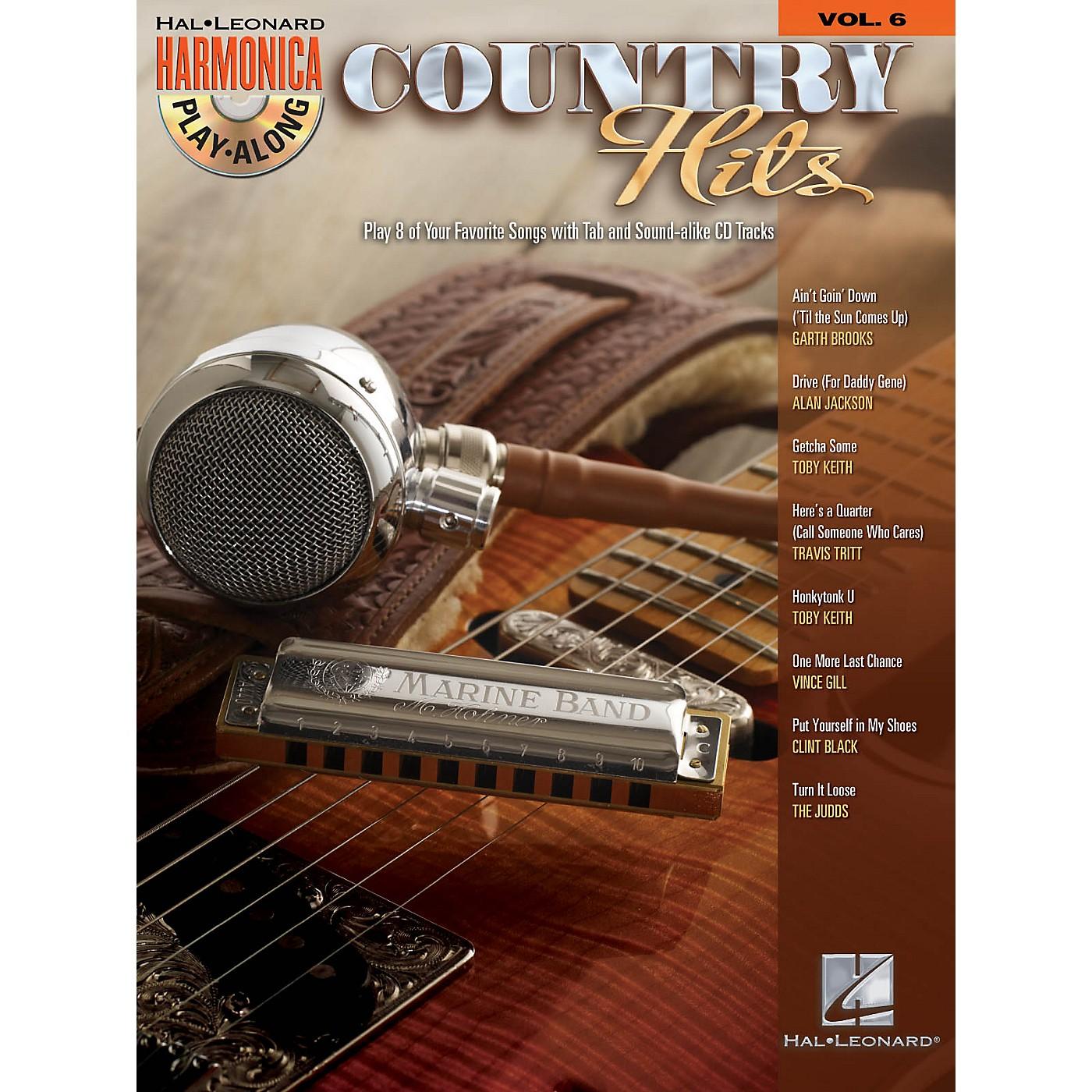 Hal Leonard Country Hits (Harmonica Play-Along Volume 6) Harmonica Play-Along Series Softcover with CD thumbnail