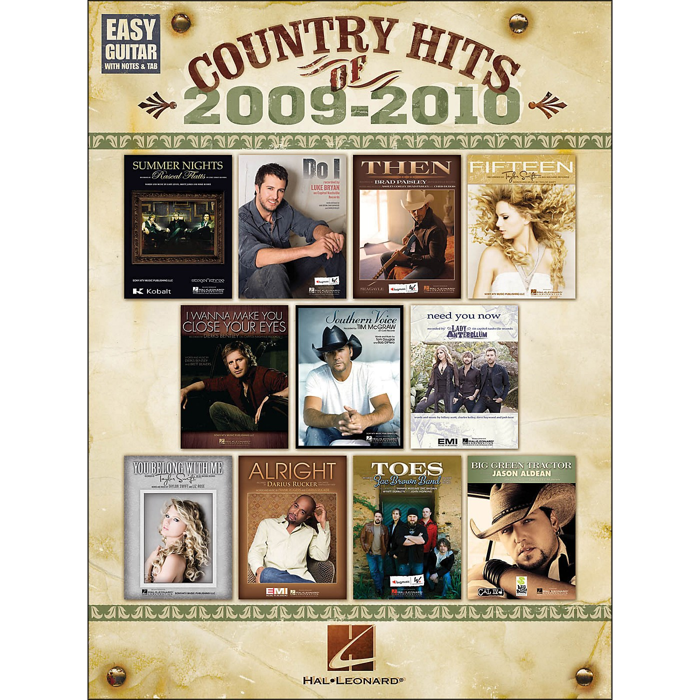 Hal Leonard Country Hits Of 2009 - 2010 Easy Guitar with Tab thumbnail
