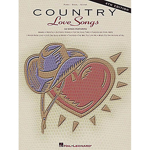 Hal Leonard Country Love Songs - 4th Edition Piano, Vocal, Guitar Songbook-thumbnail