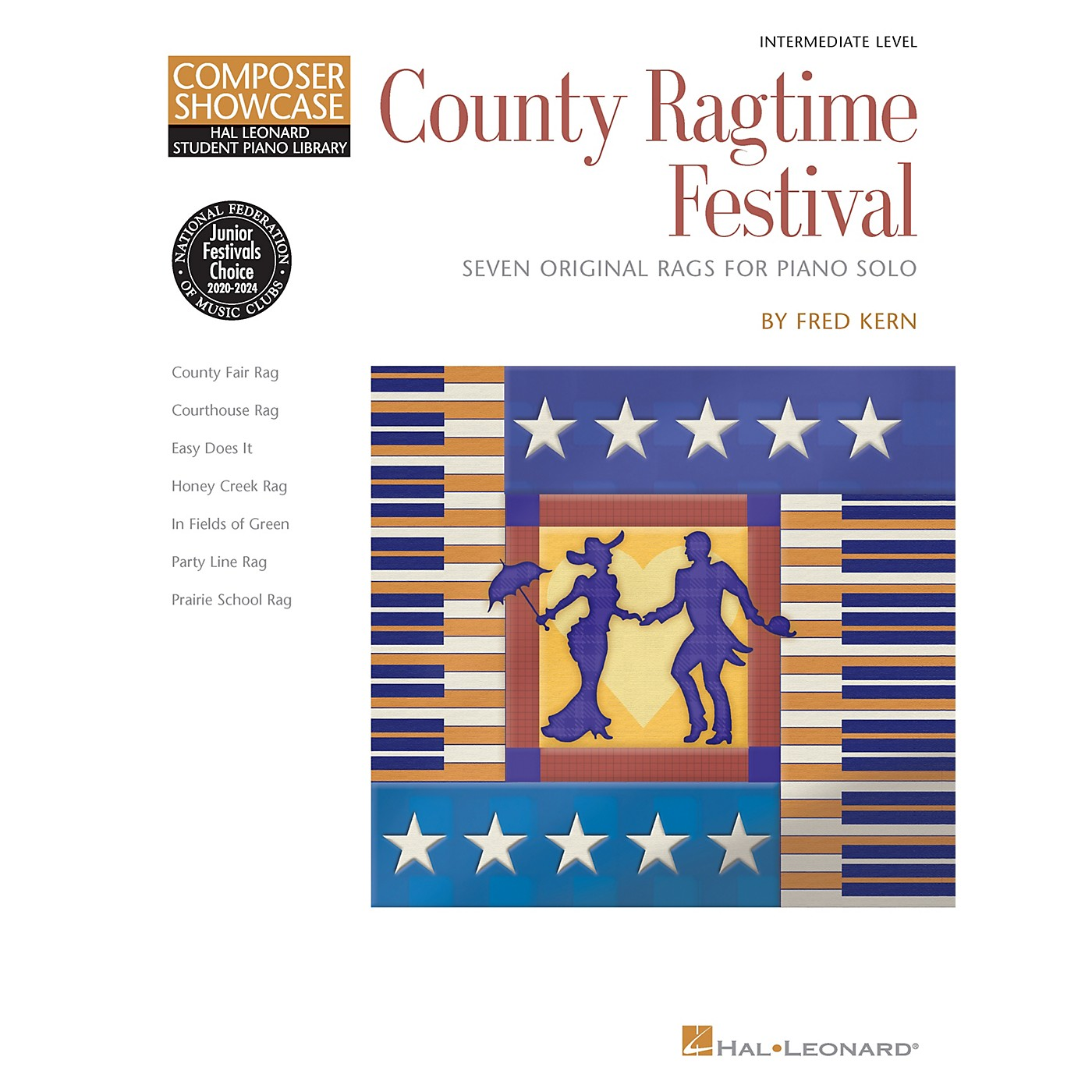 Hal Leonard County Ragtime Festival Educational Piano Library Series Softcover Composed by Fred Kern thumbnail