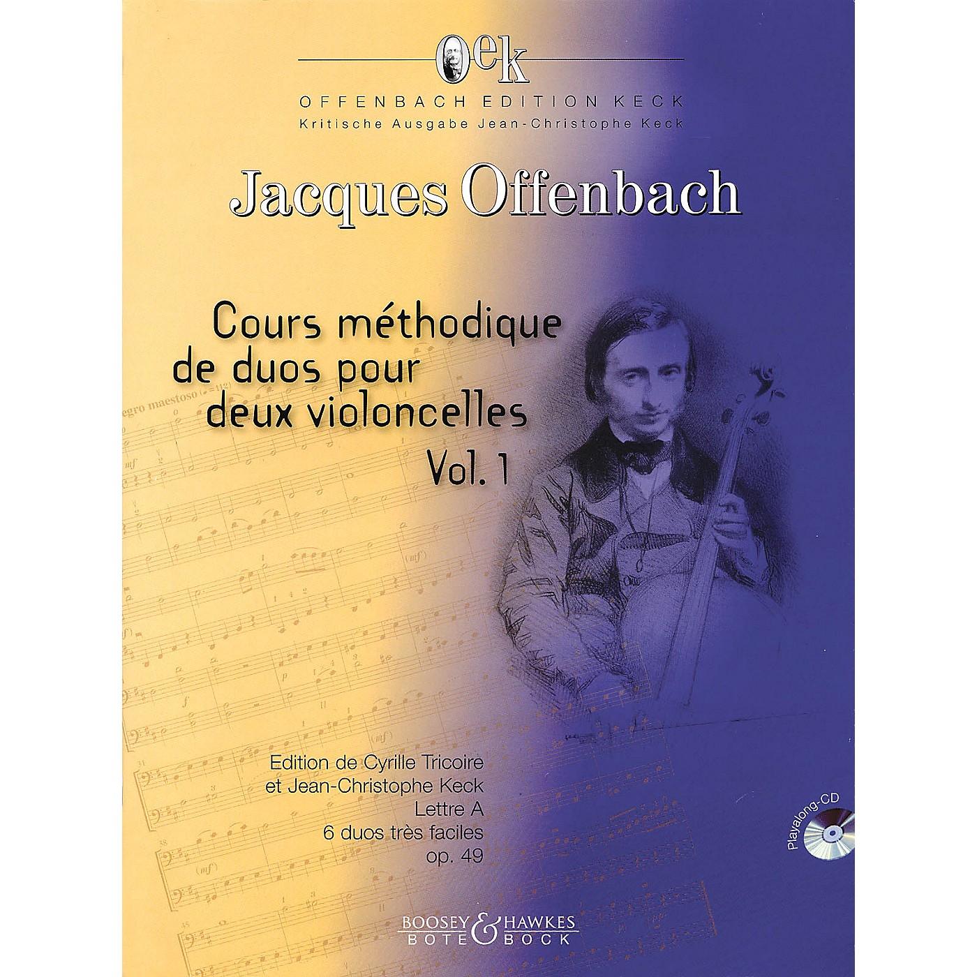 Bote & Bock Cours Méthodique de dous pour deux violoncelles - Volume 1 Boosey & Hawkes Miscellaneous Softcover with CD thumbnail