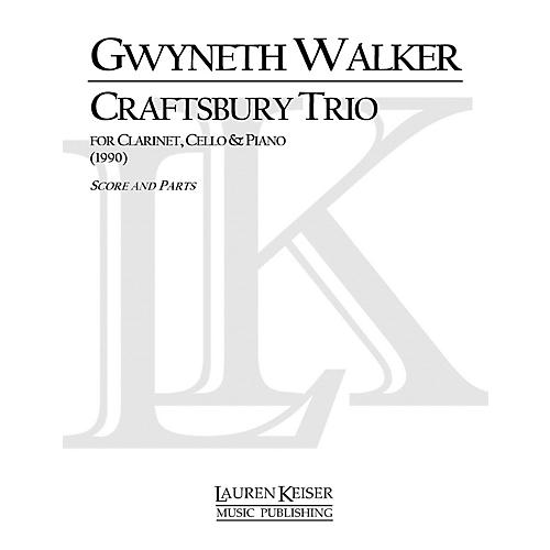 Lauren Keiser Music Publishing Craftsbury Trio for Clarinet, Cello and Piano LKM Music Series Composed by Gwyneth Walker thumbnail