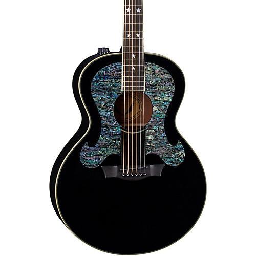 Dean Craig Wayne Boyd Solid Top Gloss Black Acoustic-Electric Guitar thumbnail