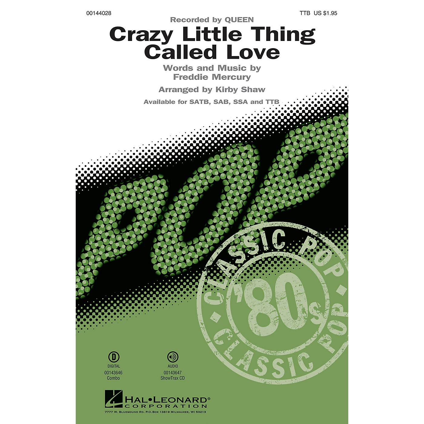 Hal Leonard Crazy Little Thing Called Love TTB by Queen arranged by Kirby Shaw thumbnail