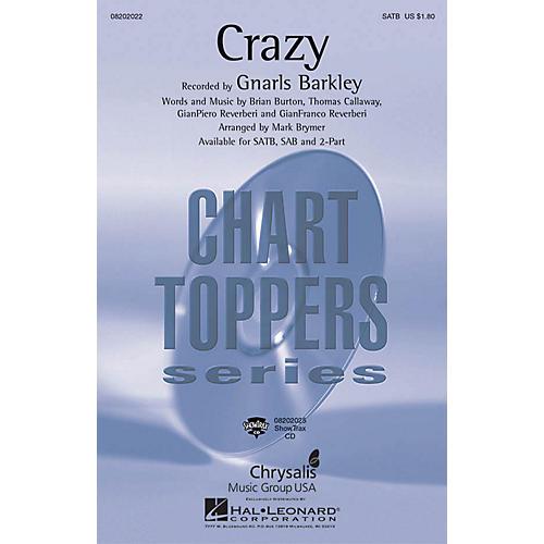 Hal Leonard Crazy SAB by Gnarls Barkley Arranged by Mark Brymer thumbnail