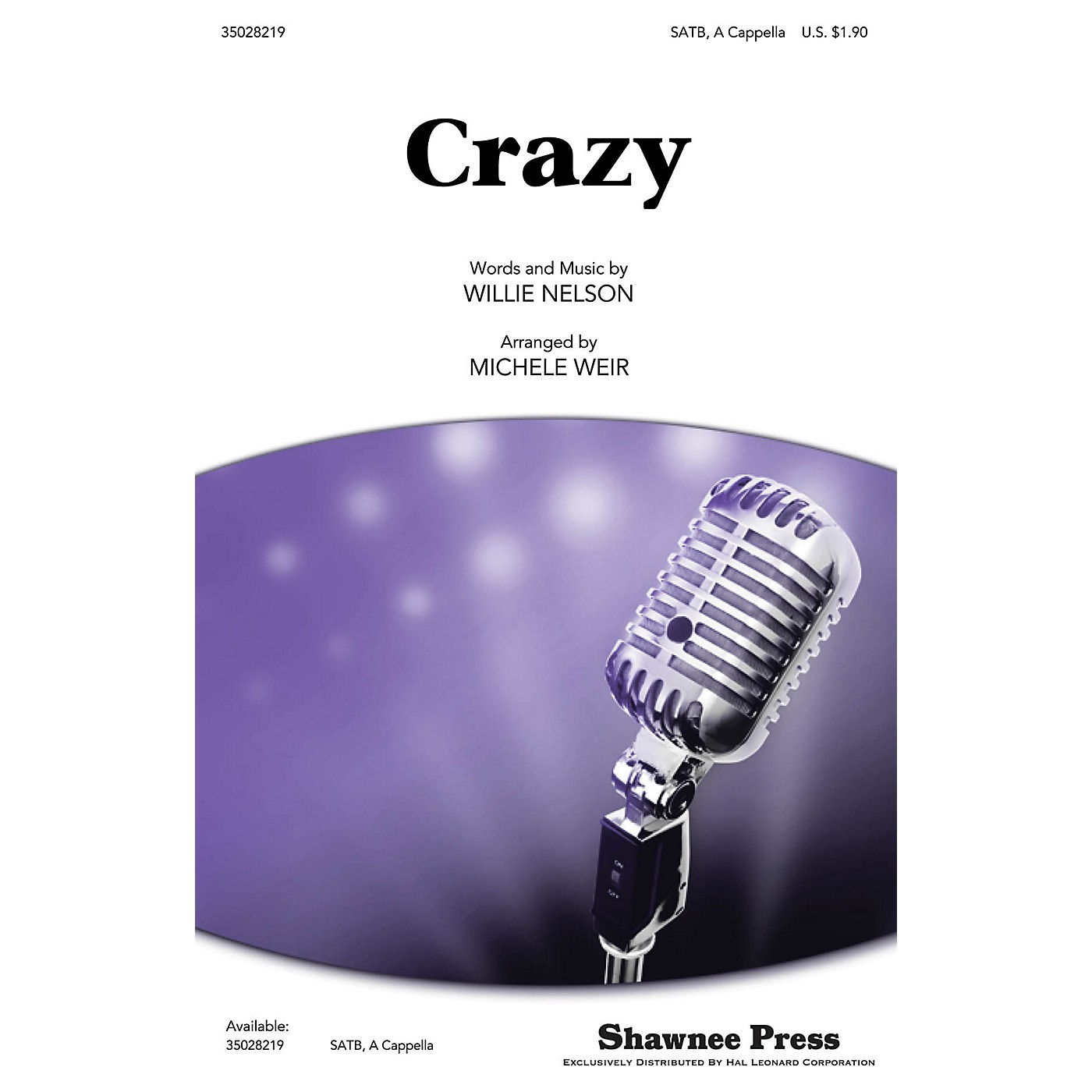 Shawnee Press Crazy SATB a cappella by Patsy Cline arranged by Michele Weir thumbnail