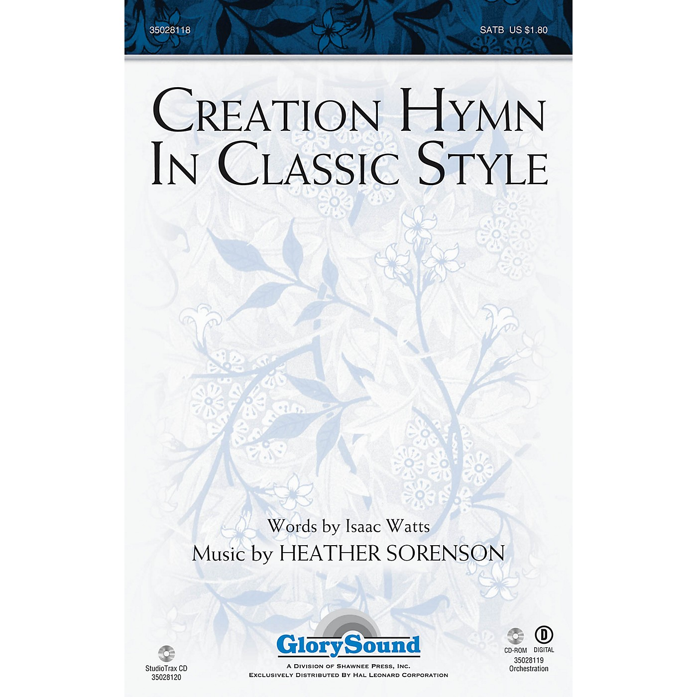 Shawnee Press Creation Hymn In Classic Style Studiotrax CD Composed by Heather Sorenson thumbnail