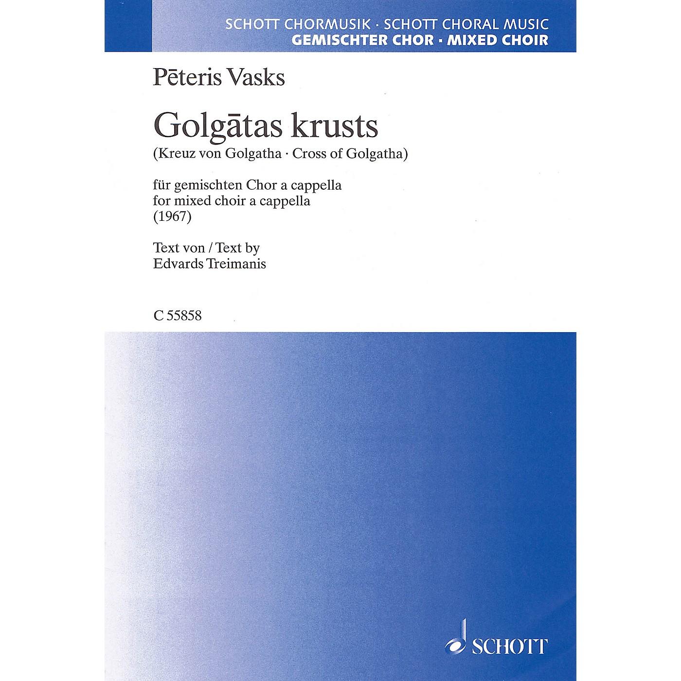 Schott Cross of Golgotha (Mixed Choir a cappella) SATB Composed by Peteris Vasks thumbnail
