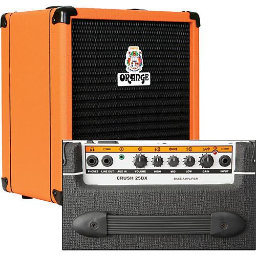 Orange Amplifiers Crush PiX CR25BX 25W 1x8 Bass Combo Amp-thumbnail