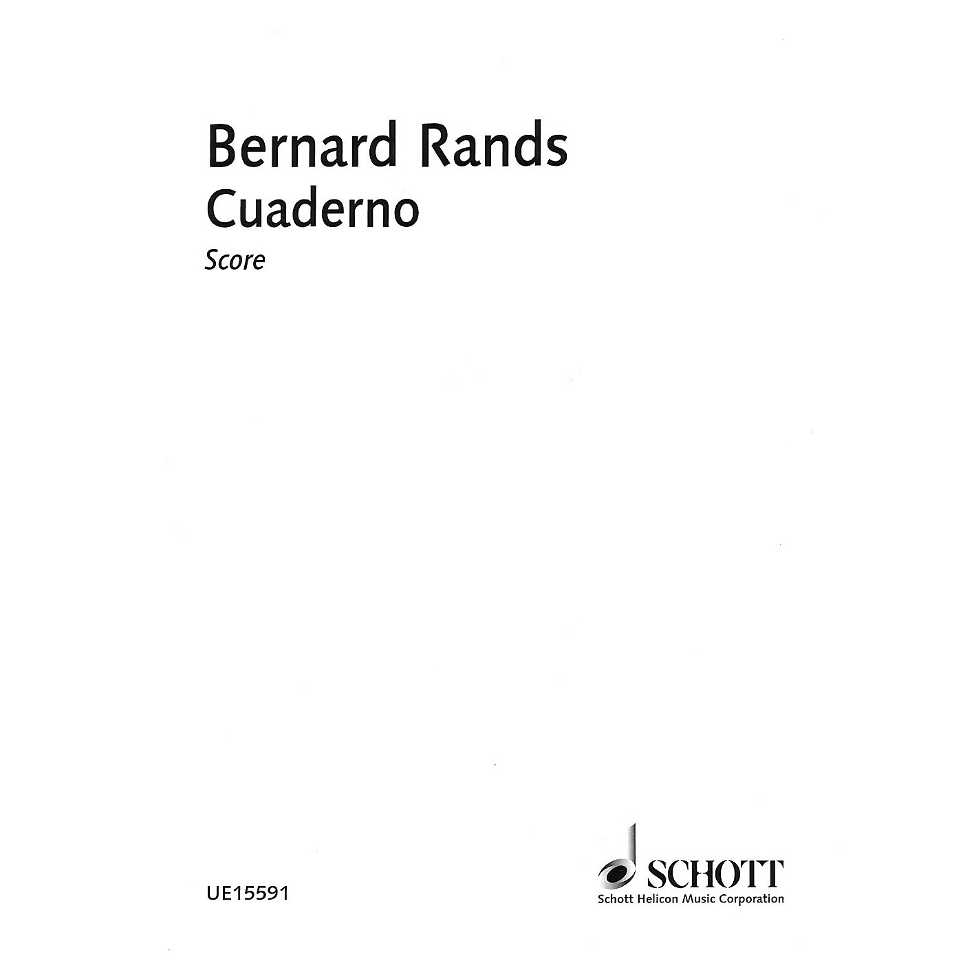 Schott Cuaderno Schott Series Softcover Composed by Bernard Rands thumbnail