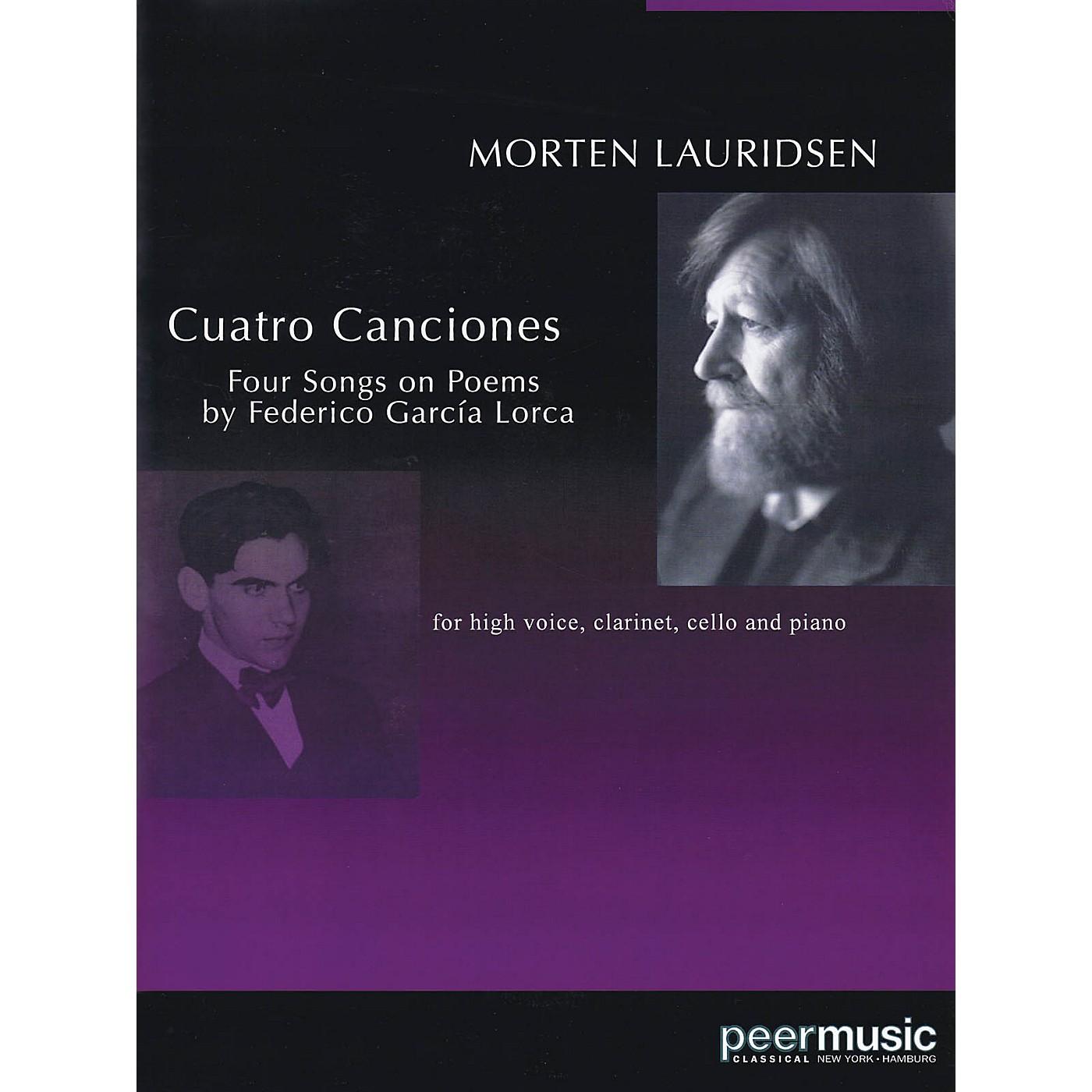 Peer Music Cuatro Canciones (for Soprano, Clarinet, Cello and Piano) Peermusic Classical Series by Morten Lauridsen thumbnail