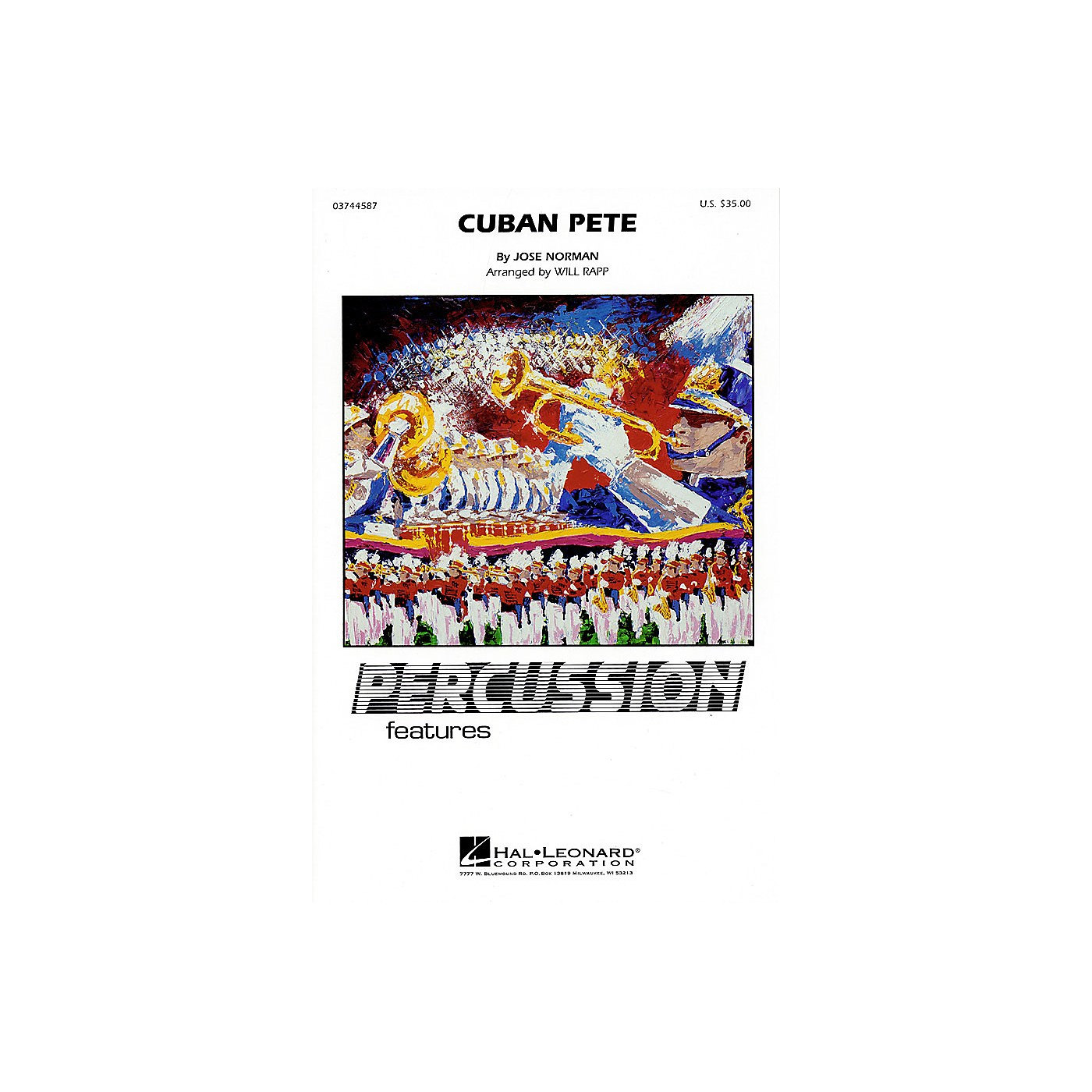 Hal Leonard Cuban Pete (Percussion Feature) Marching Band Level 4 thumbnail