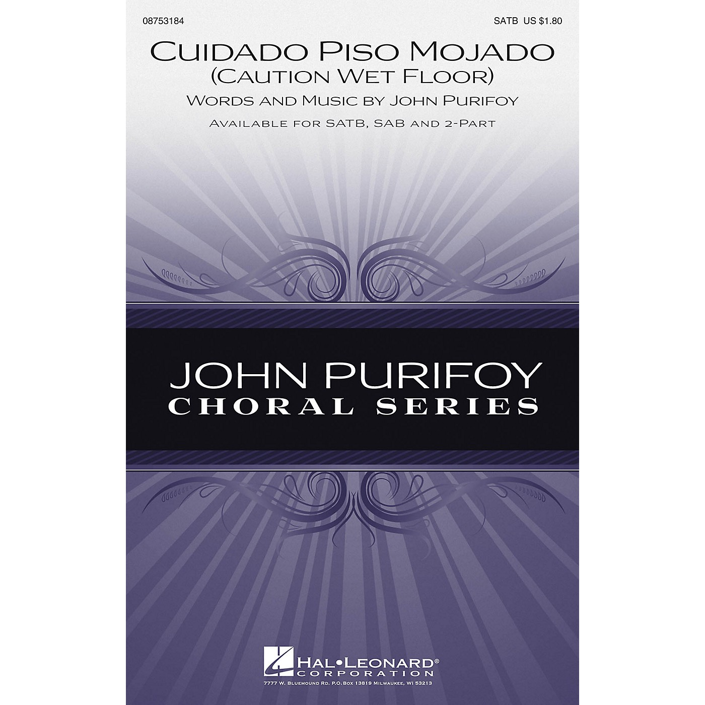 Hal Leonard Cuidado Piso Mojado (Caution, Wet Floor) SAB Composed by John Purifoy thumbnail