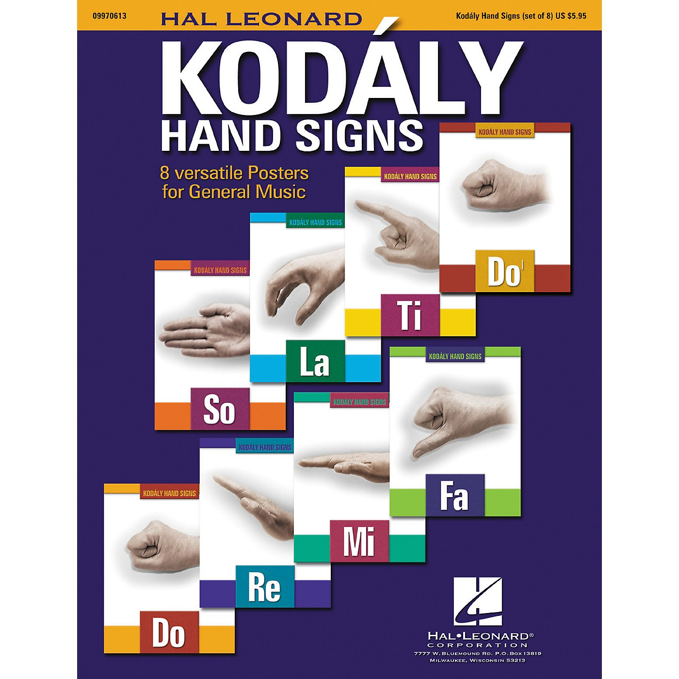 Hal Leonard Curwen/Kodaly Hand Signs Poster Set thumbnail