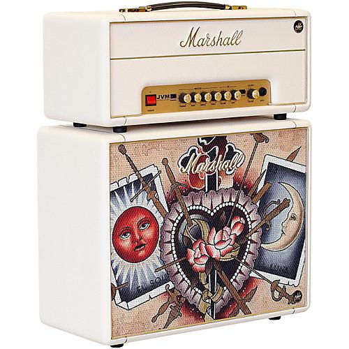 Marshall Custom Tattoo Emily Wood Stack JVM-1H 1W Tube Guitar Head and 1x10 Cab thumbnail