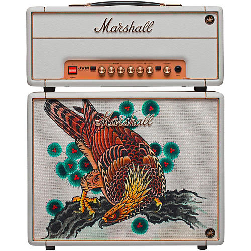 Marshall Custom Tattoo Tutti Serra Stack JVM-1H 1W Tube Guitar Head and 1x10 Cab thumbnail
