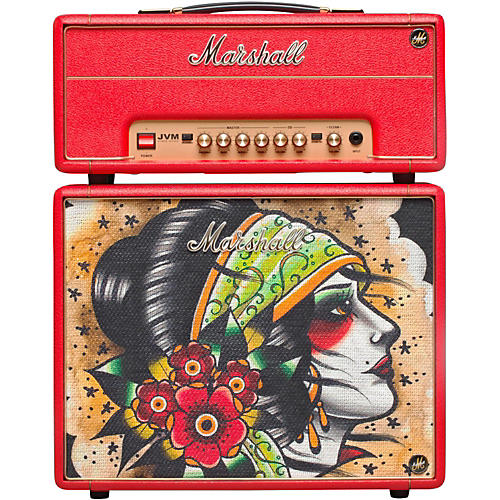 Marshall Custom Tattoo Vicky Morgan Stack JVM-1H 1W Tube Guitar Head and 1x10 Cab thumbnail