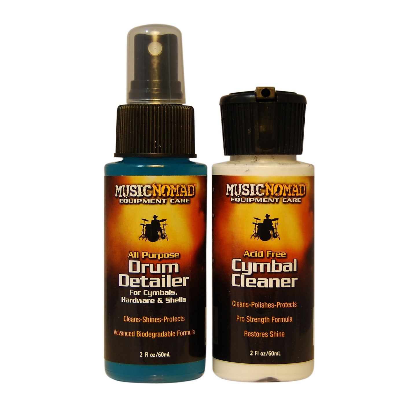 Music Nomad Cymbal Cleaner and Drum Detailer Combo Pack (2 oz.) thumbnail
