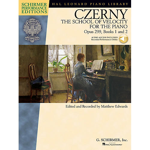 G. Schirmer Czerny - The School of Velocity for the Piano Op 299 Books 1 and 2 Schirmer Perf Ed BK/Audio Online thumbnail