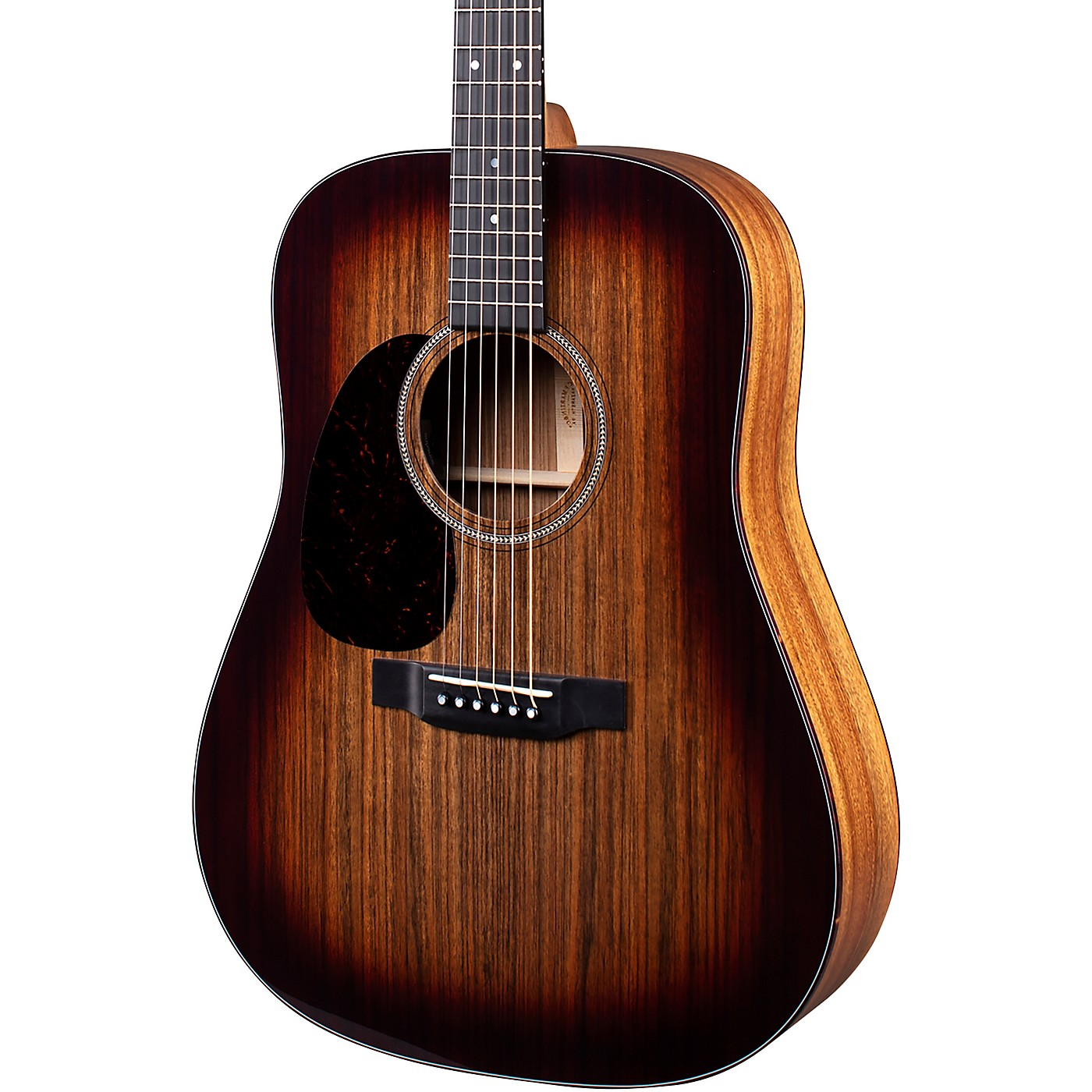 Martin D-16E 16 Series Ovangkol Burst Left-Handed Acoustic-Electric Guitar thumbnail