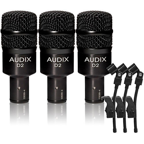 Audix D-2 Dynamic Microphone 3-Pack thumbnail