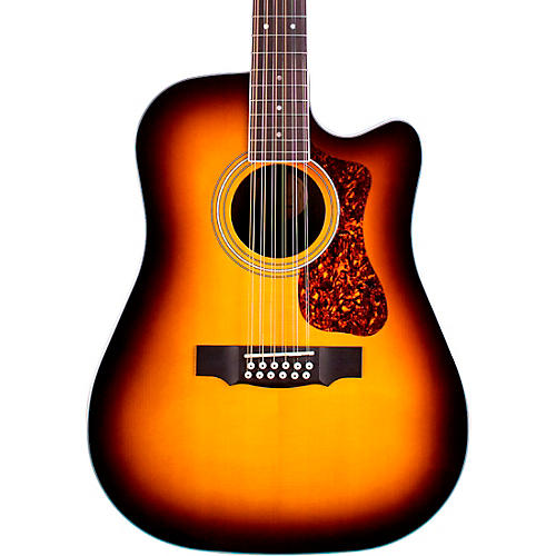 Guild D-2612E Deluxe 12-String Cutaway Acoustic-Electric Guitar thumbnail