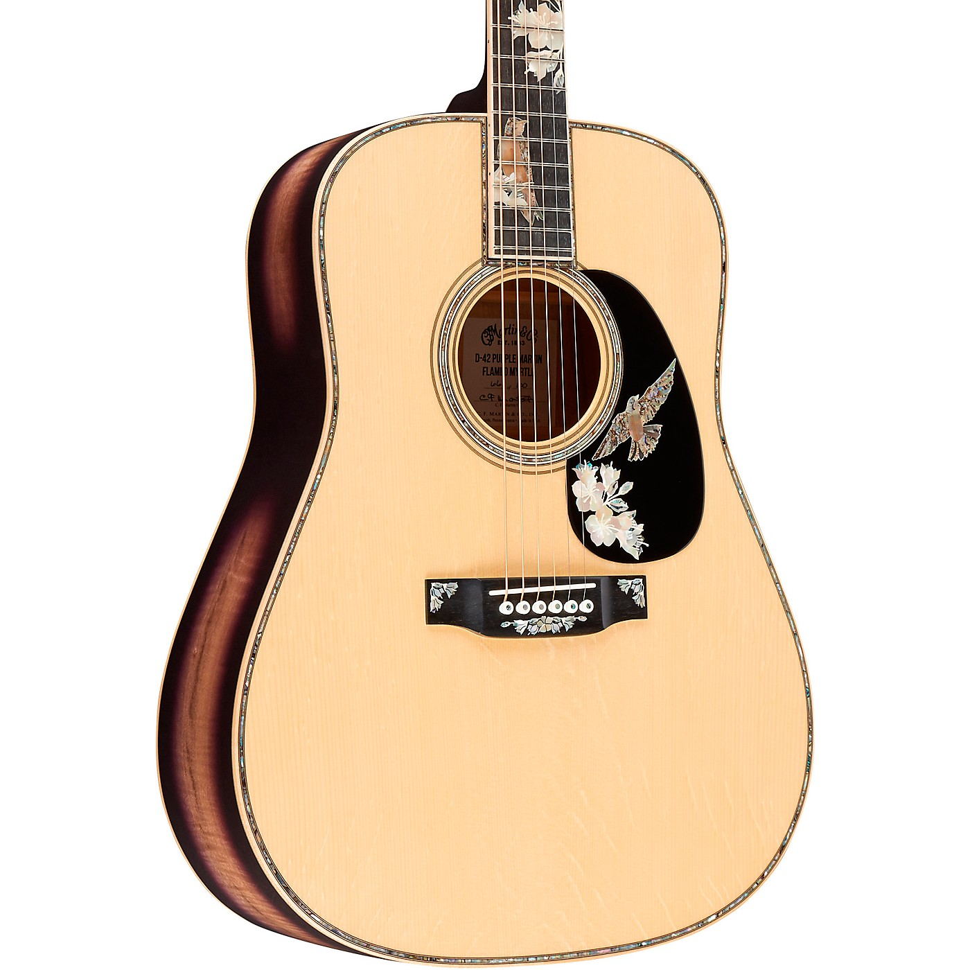Martin D-42 Purple Martin Limited-Edition Flamed Myrtle Dreadnought Acoustic Guitar thumbnail