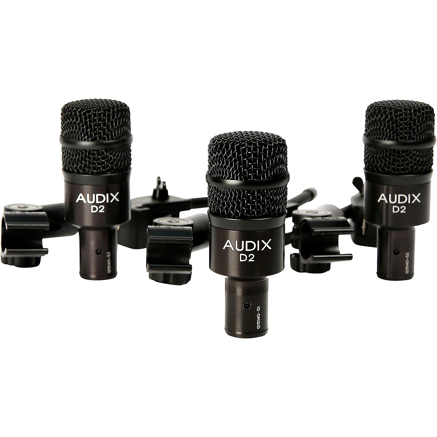 Audix D2 Drum Microphone and Clamps 3-Pack thumbnail