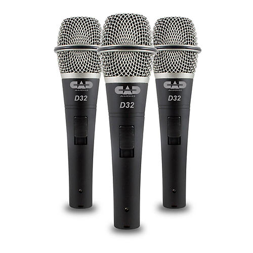 CadLive D32 Supercardioid Dynamic Handheld Microphones (3-Pack) thumbnail