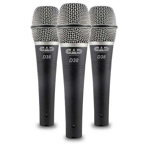 CadLive D38 Supercardioid Dynamic Handheld Microphones (3-Pack) thumbnail