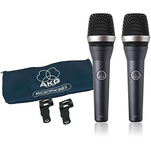 AKG D5 Supercardioid Handheld Dynamic Microphone (2-Pack) thumbnail