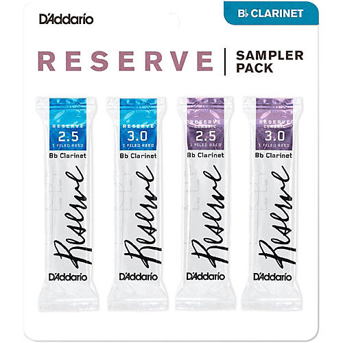 D'Addario Woodwinds D'Addario Reserve Bb Clarinet Reed Sampler Pack thumbnail